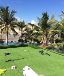 (AVG) Dự án trải cỏ nhân tạo sân vườn AVG tại Dự án Khu nghỉ Dưỡng The East Sea